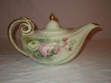 Hand Painted Semi Porcelain Aladdin Tea Pot