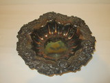 Victorian Silver Plated Bowl w/Ornate Floral Motif