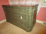 3 Drawer Walnut Victorian Era Dresser w/ European Marble Top
