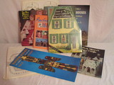 Lot - Vintage & Other Houses, Castles, etc. to Put Together, Books of Famous