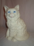 Retro Hand Painted Ceramic Persian Cat   12