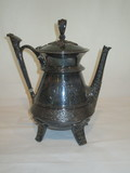 Victorian Silver Plated Tea Pot - Ornate  11