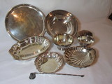Great Silver Plate Lot - Bowls, Tray, Candy Snuffer, Hinged
