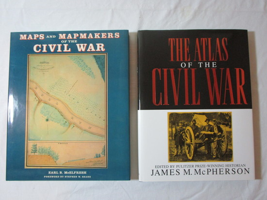 Book Lot - The Atlas od the Civil War ©1994, Maps & Mapmakers of the Civil War ©1999