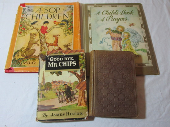 Children's' Book Lot - Goodbye Mr. Chips ©1934, Miss Bunkley's Book: The Testimony of