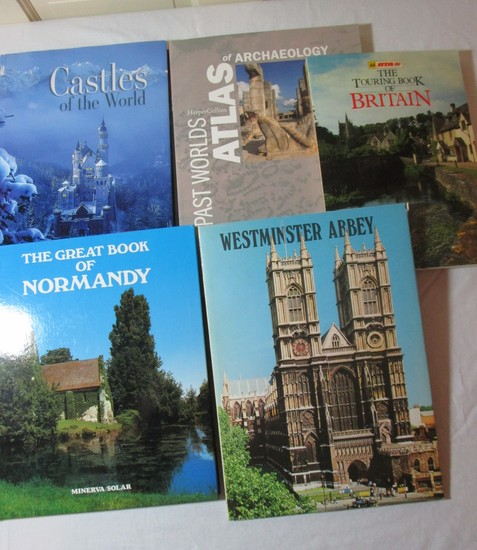 Book Lot - Castles of the World, The Great Book of Normandy, etc.