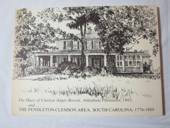 Paper Back Edition - The Diary of Clarissa Adger Bowen, Ashtabula Plantation,