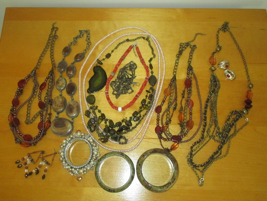 Lot - Misc. Costume Jewelry.  Bracelets, Necklaces & Earrings