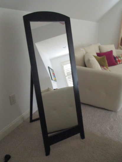 Self Standing Mirror in Black Frame -  Few nicks