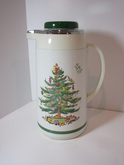 """Spode """"Christmas Tree"""" - Thermal Carafe (New in Box)"""