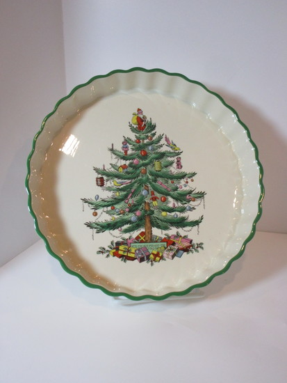 """Spode """"Christmas Tree"""" - 9"""" Tart Dish - Oven to Table"""