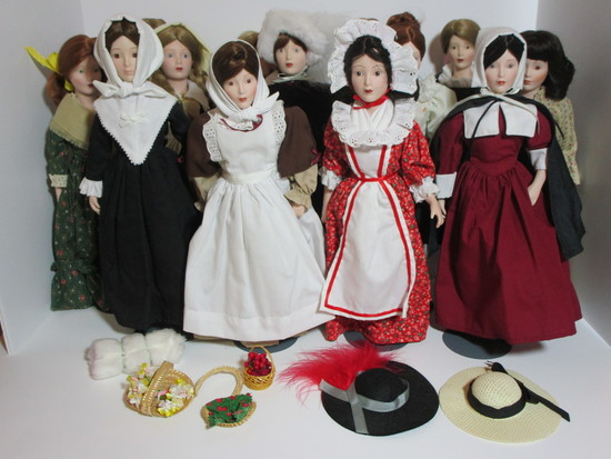 "Dolls of the Thirteen Colonies    13"" Tall"