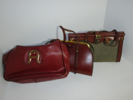 Lot - Vintage Aigner Handbags