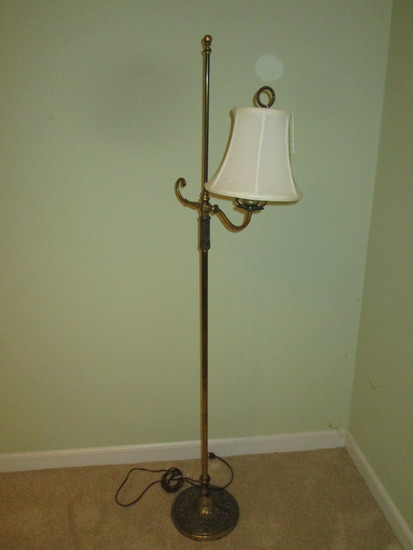 """Brass Bridge Lamp   52"""""""
