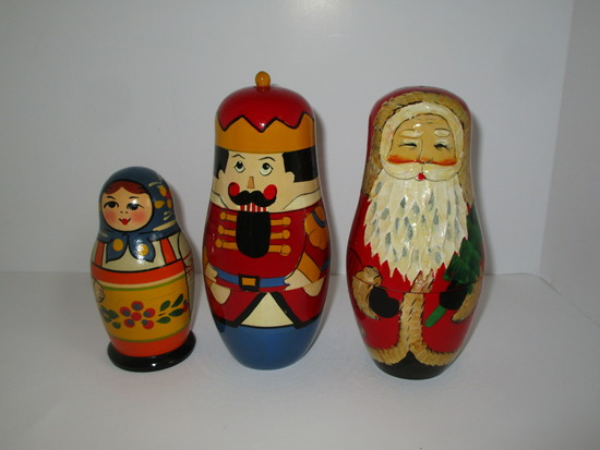 Set of 3 Nesting Dolls - See pictures
