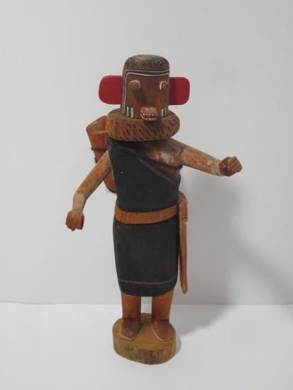 """Kachina Doll  11 1/2"""" Thomas Hopi - Signed on Base"""