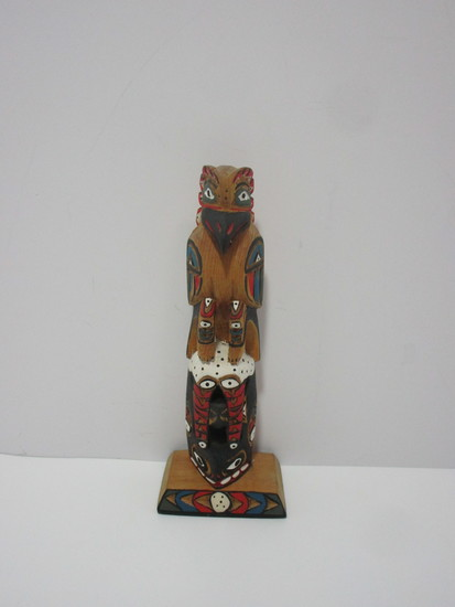 """Hand Carved King Orca Kachina Doll.  6 5/8""""  Artist Signature Carved on Back"""
