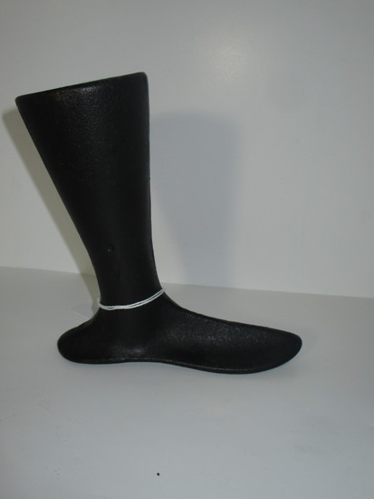 """Early Cast Iron Child's Boot Last - No Identifying Marks.  Approx. 6 1/2"""" H"""