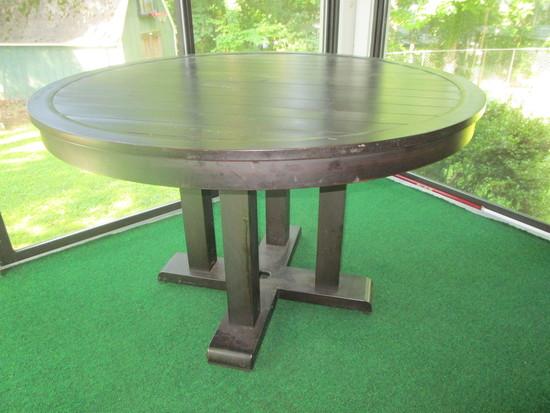 Metal Patio Table   4' Across