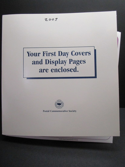 1st Day Covers - 2003     Postal Commemorative Society Cachets & Display Pages
