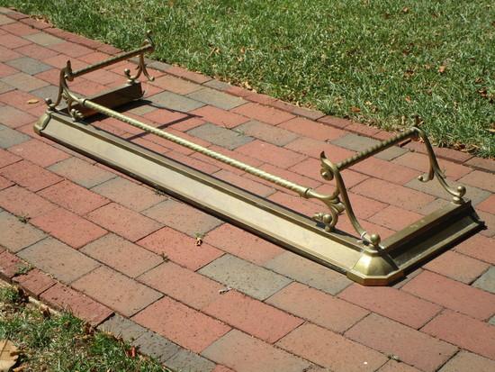 Ornate Brass Fire Fender