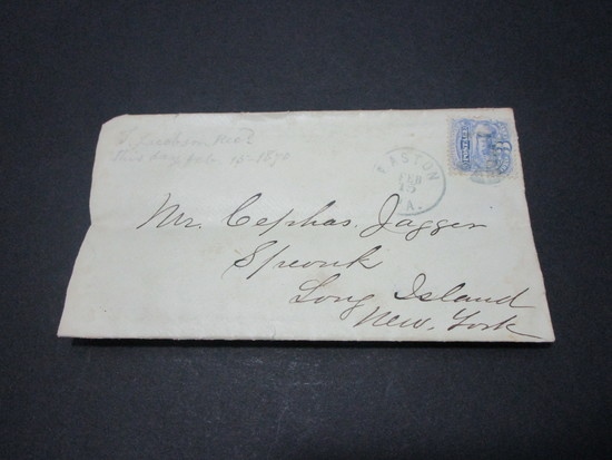 Scott 113 - Post Civil War Letter From Union Soldier Dated February 15, 1870