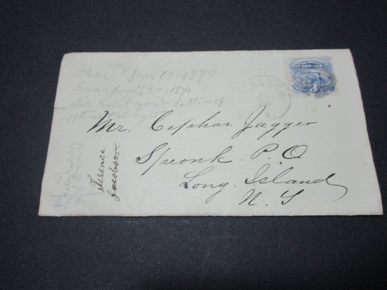Scott 112 - Post Civil War Letter From Union Soldier in Easton, PA