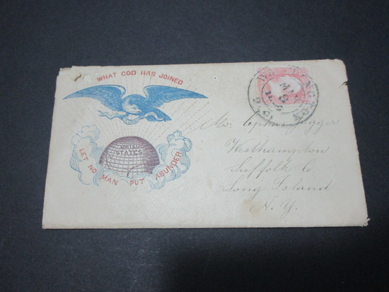 Scott 64 - Patriotic Cover.  Civil War Letter From Union Soldier.