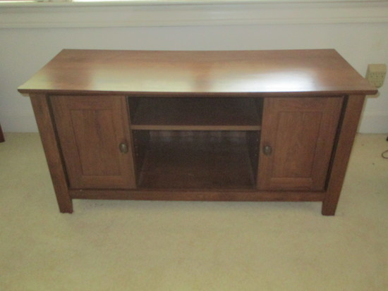 Oak Finish Media Cabinet