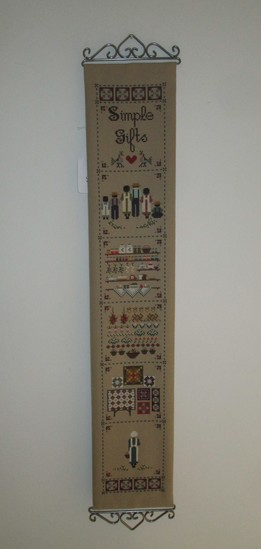 "Cross Stitch Bell Pull.  34"" x 6"""