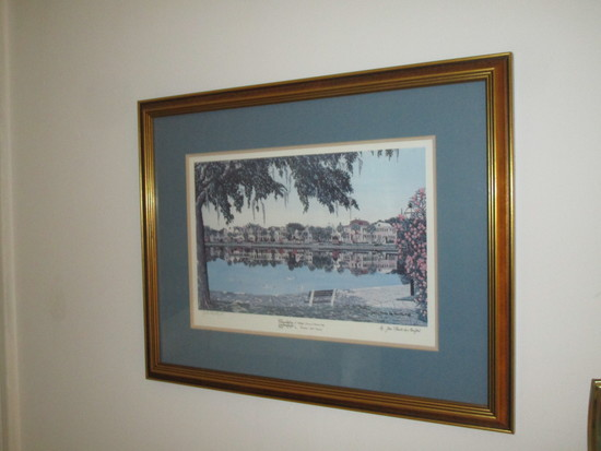 Claude de Montfort Pencil Signed Charleston Print