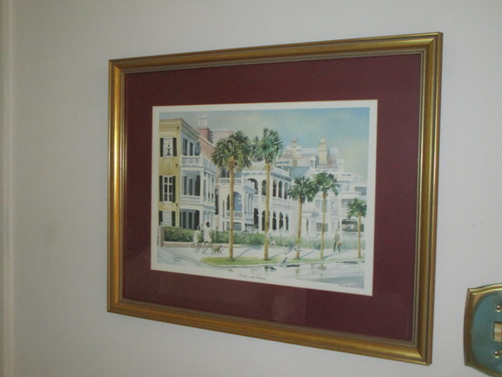 Porches on the Battery Charleston Print by Emerson