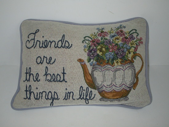 Friends are the Best Things in Life Accent Pillow