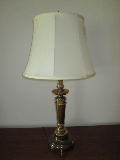 Brass Tone Lamp w/Shade 34""