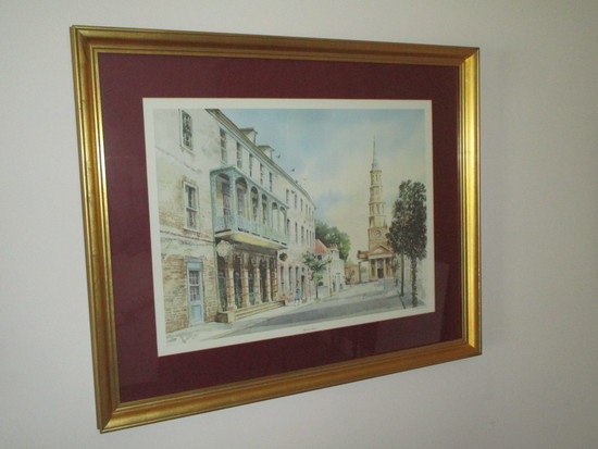Charleston Print Titled 'Church Street' By Emerson