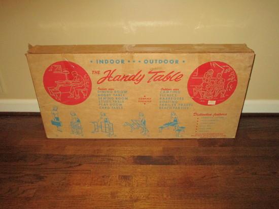 Handy Indoor / Outdoor Folding Table w/Original Box