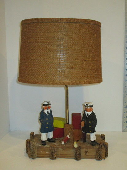 "Decorative Sea Captain Design Lamp 19"""