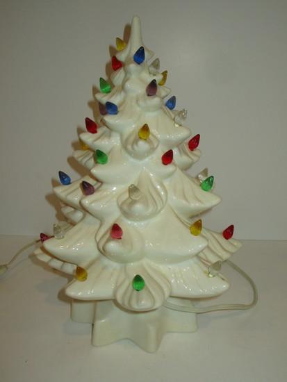 """White Ceramic Christmas Tree 13"""""""
