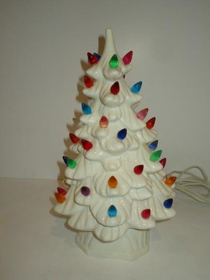 """White Ceramic Christmas Tree 12"""""""