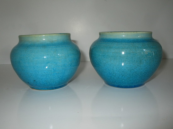 "Pair Pisgah Forest 3"" Vases 1939 Marked"