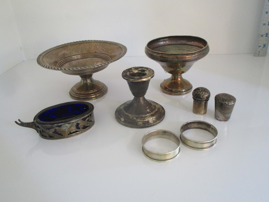 """Lot Misc. Sterling MHF 4"""" & PSCO 6"""" Weighted Compotes"""
