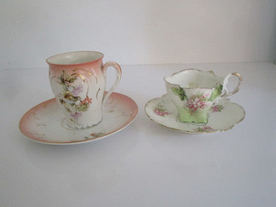 Lot Demitasse Porcelain Cups & Saucers