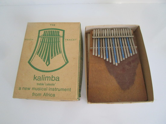 African Kalimba Treble Celeste w/Original Box 1966
