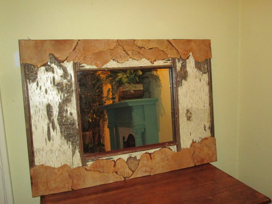 """River Birch Framed Mirror 27"""" X 38.5"""" X 12"""" This Piece would POP in so many places!"""