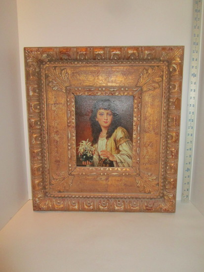 """Artist Signed Oil on Canvas in Ornate Frame 21"""" X 18 1/2"""""""