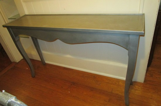 """Silver Painted Sofa/Entry Table - 33"""" X 55"""" X 14"""""""