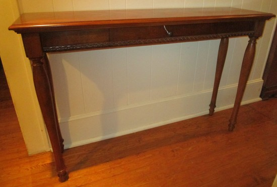 Legends Furniture Mahogany Finish 1 Drawer End Table w/ Wood Turned Legs