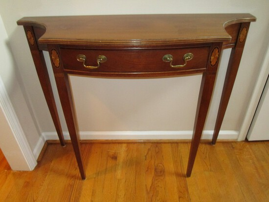 Hammery Mahogany Entry Table w/ 1 Drawer