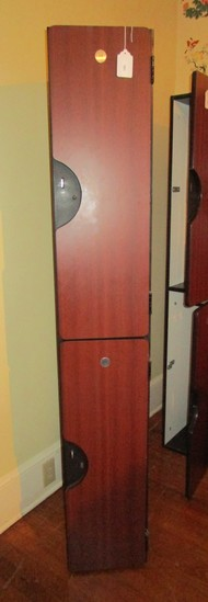 "Gym Locker Unit w/ 2 Lockers #33 #34 - measures 6' x 12"" x 19"""