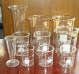 Assorted Lot of Glass Beakers Pharmacy Lab